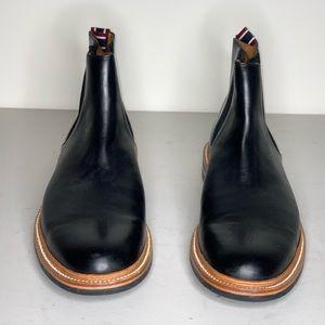 Oar Stripe Chelsea boots in Italian leather